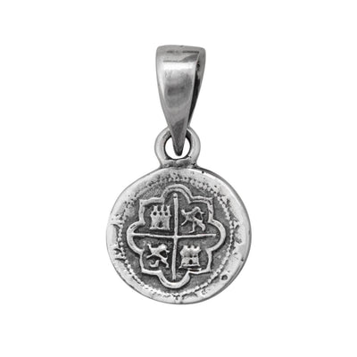 sterling-silver-spanish-coin-pendant - 1 - Charles Albert Inc