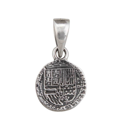 sterling-silver-spanish-coin-pendant - 2 - Charles Albert Inc
