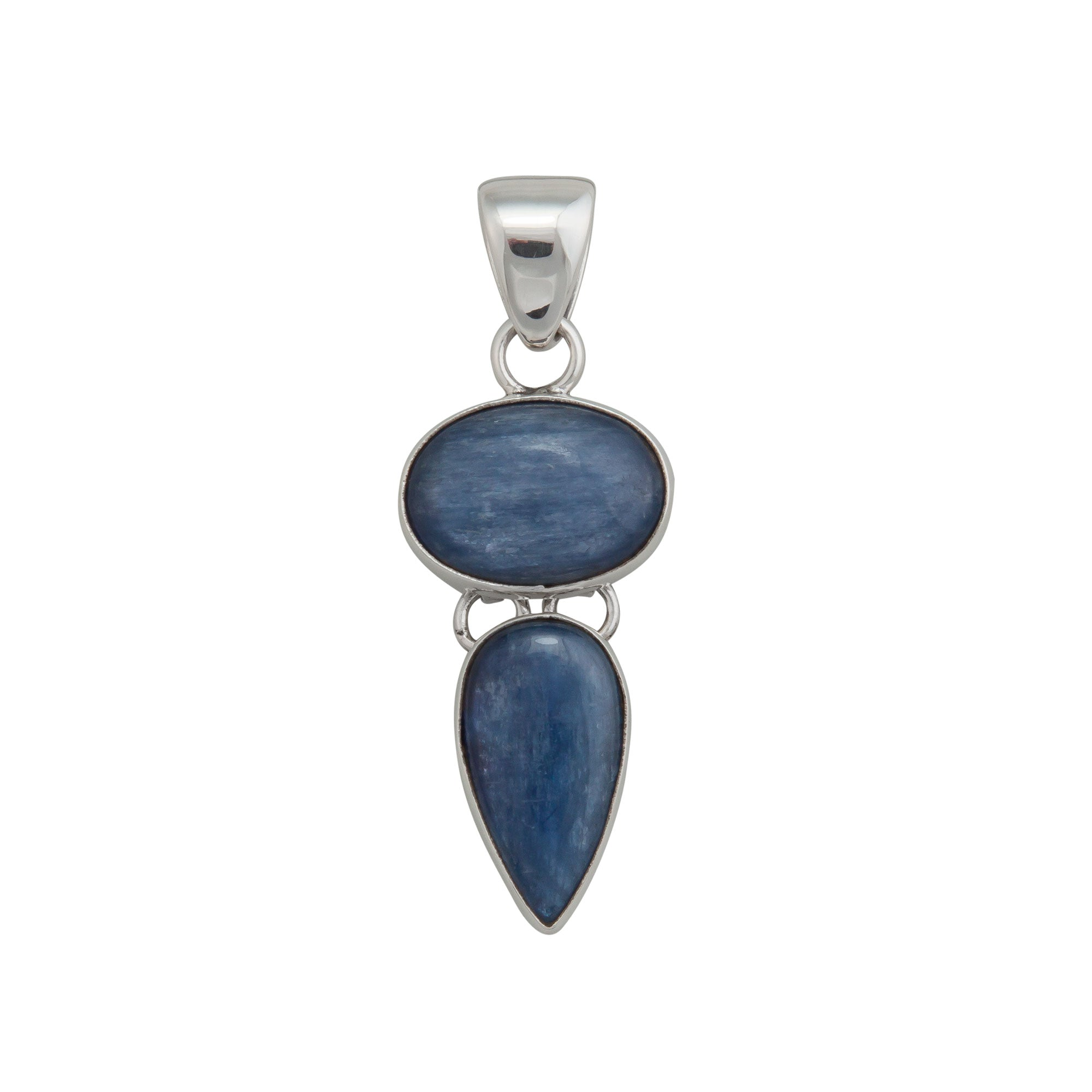 Sterling Silver Kyanite Double Pendant | Charles Albert Jewelry