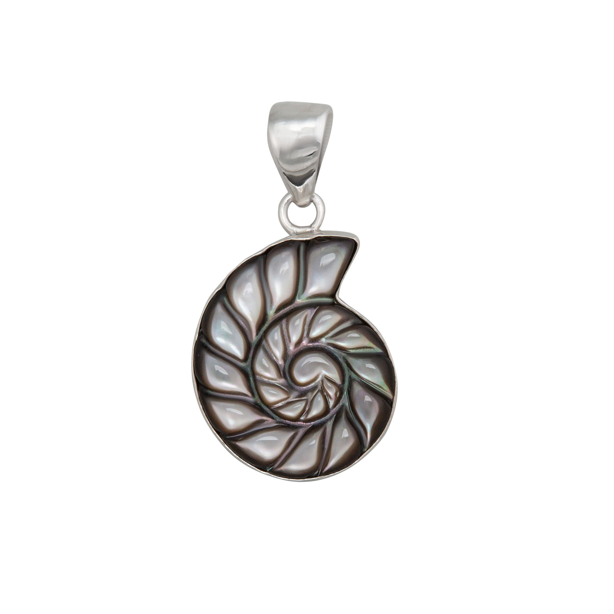 Sterling-Silver-Mother-of-Pearl-Shell-Pendant-1-Charles Albert Inc