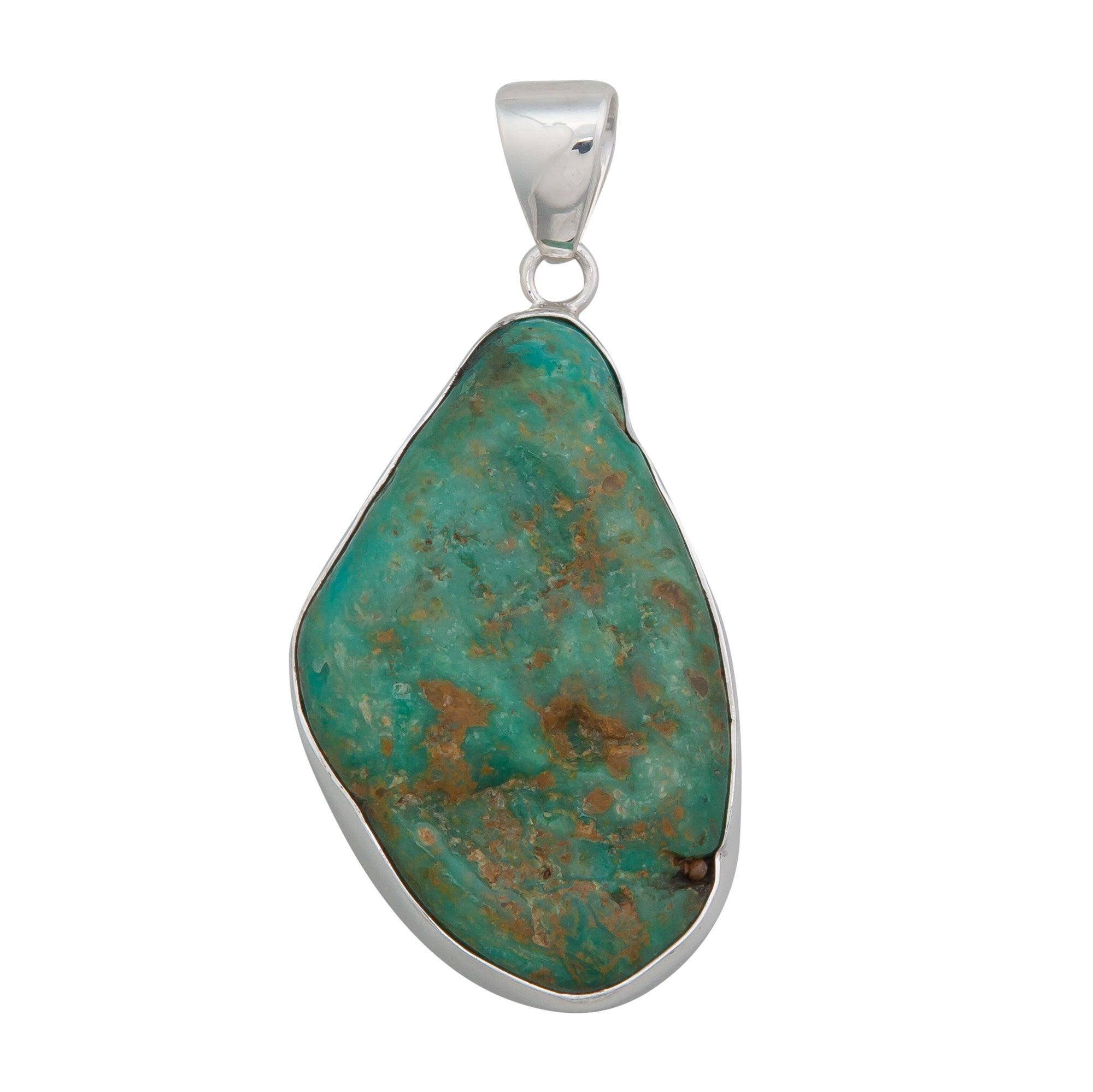 Sterling Silver Campo Frio Turquoise Pendant | Charles Albert Jewelry