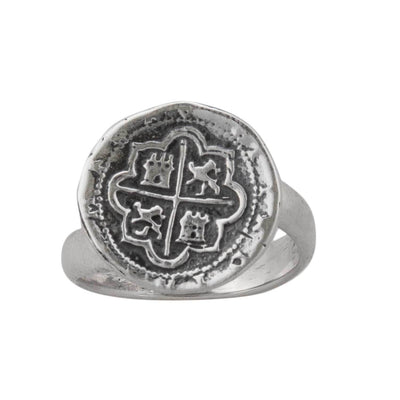 sterling-silver-spanish-coin-adjustable-ring - 1 - Charles Albert Inc