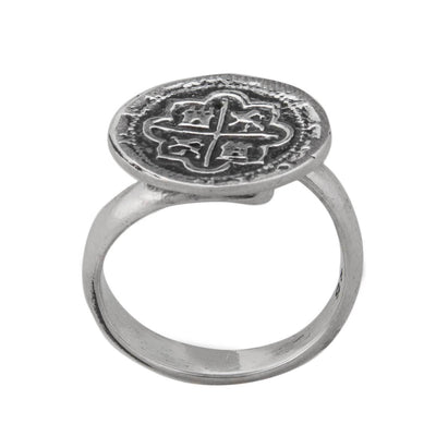 sterling-silver-spanish-coin-adjustable-ring - 5 - Charles Albert Inc