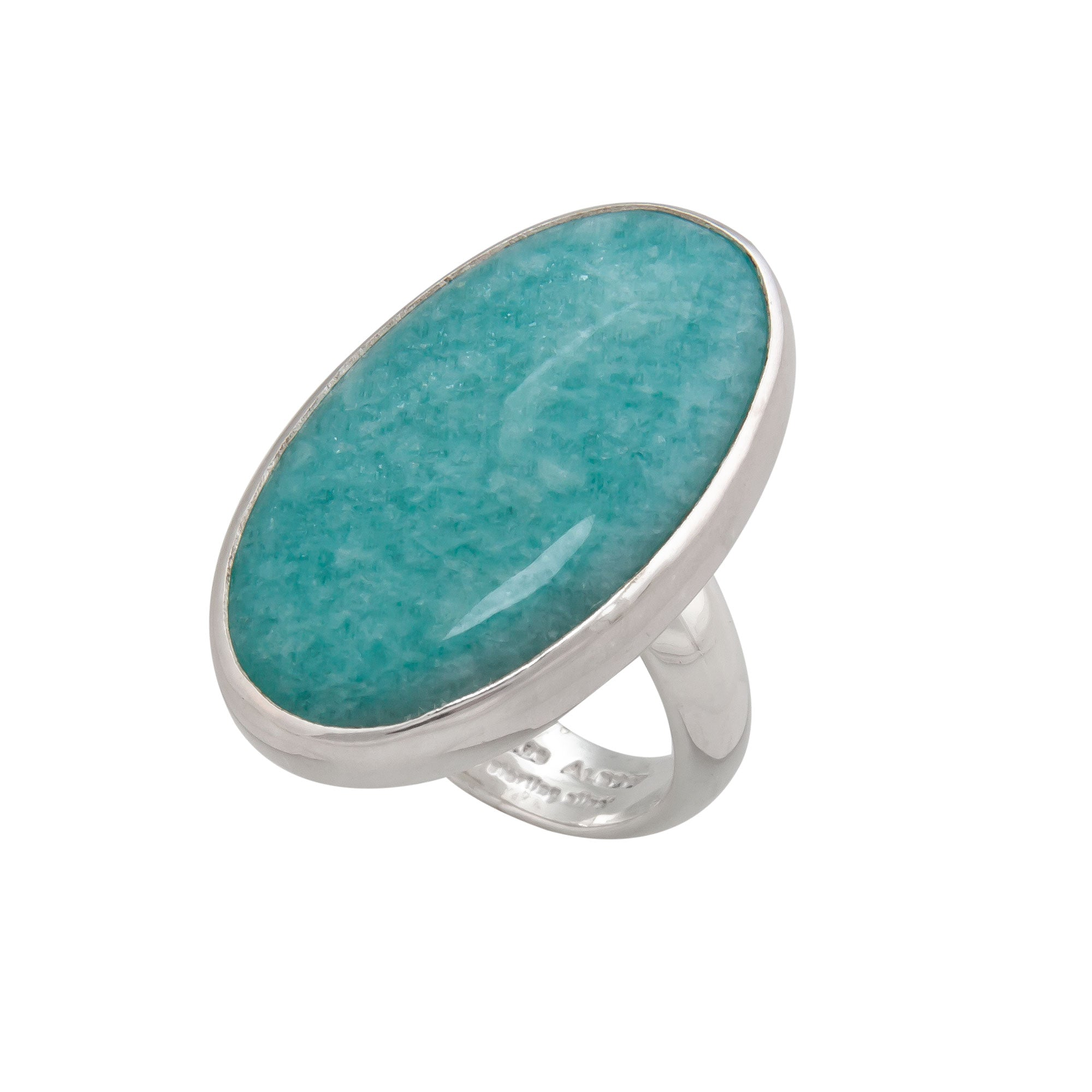Sterling Silver Amazonite Adjustable Ring | Charles Albert Jewelry