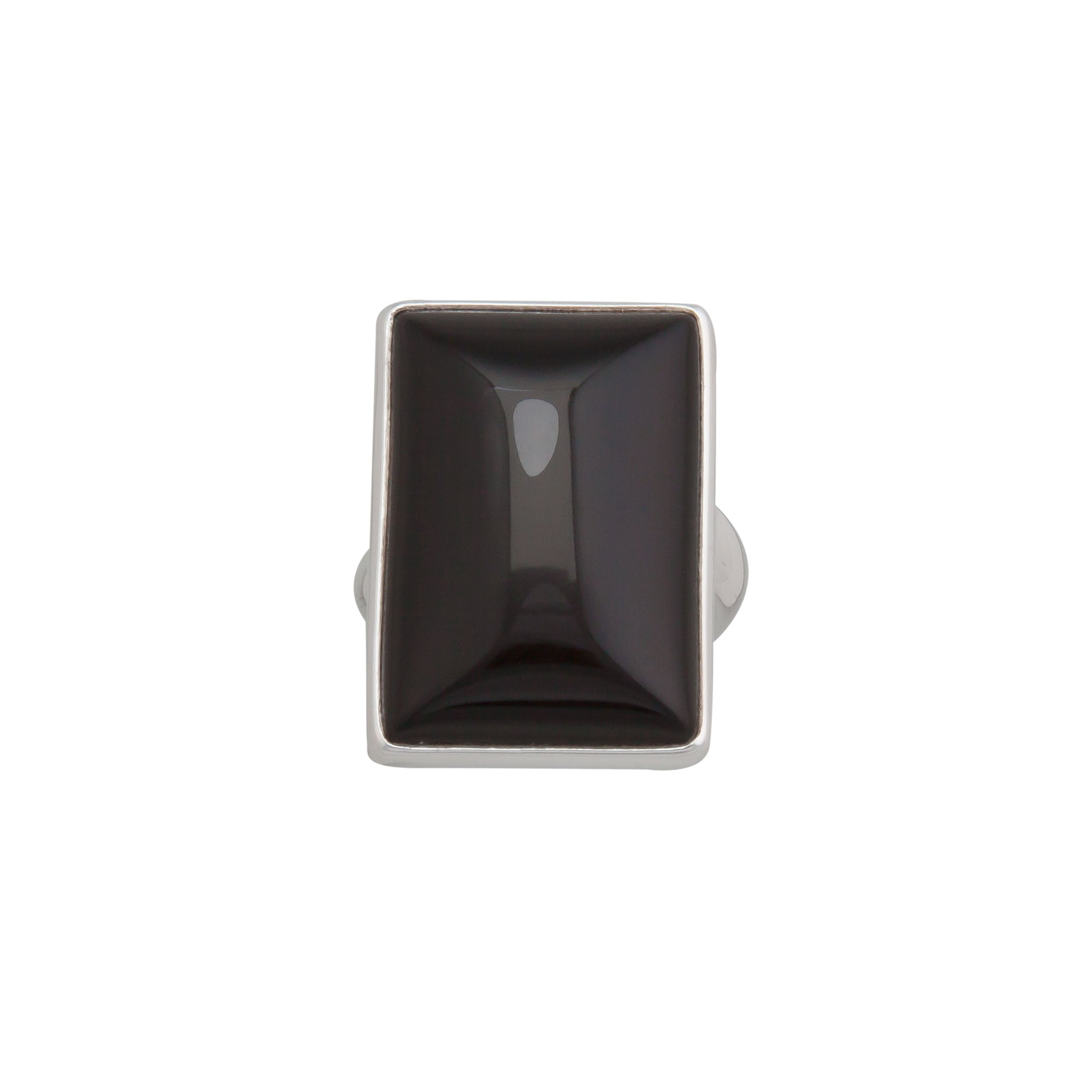 Sterling Silver Onyx Rectangle Adjustable Ring | Charles Albert Jewelry