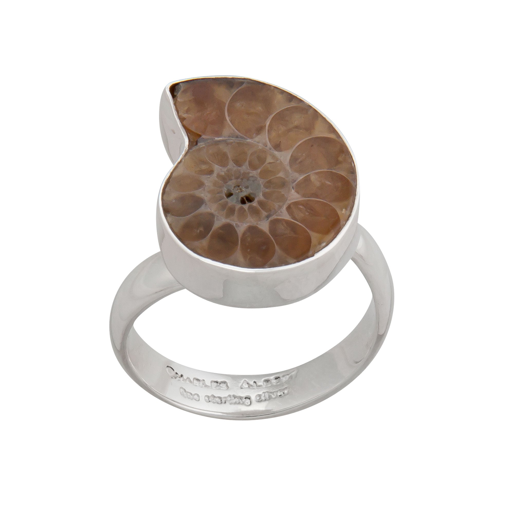Sterling Silver Ammonite Petite Ring