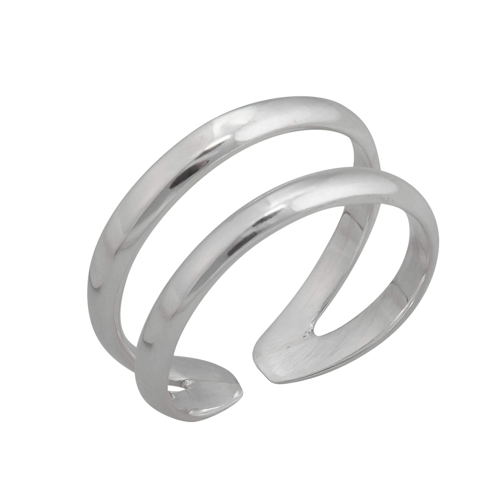 Sterling Silver Double Band Adjustable Ring | Charles Albert Jewelry