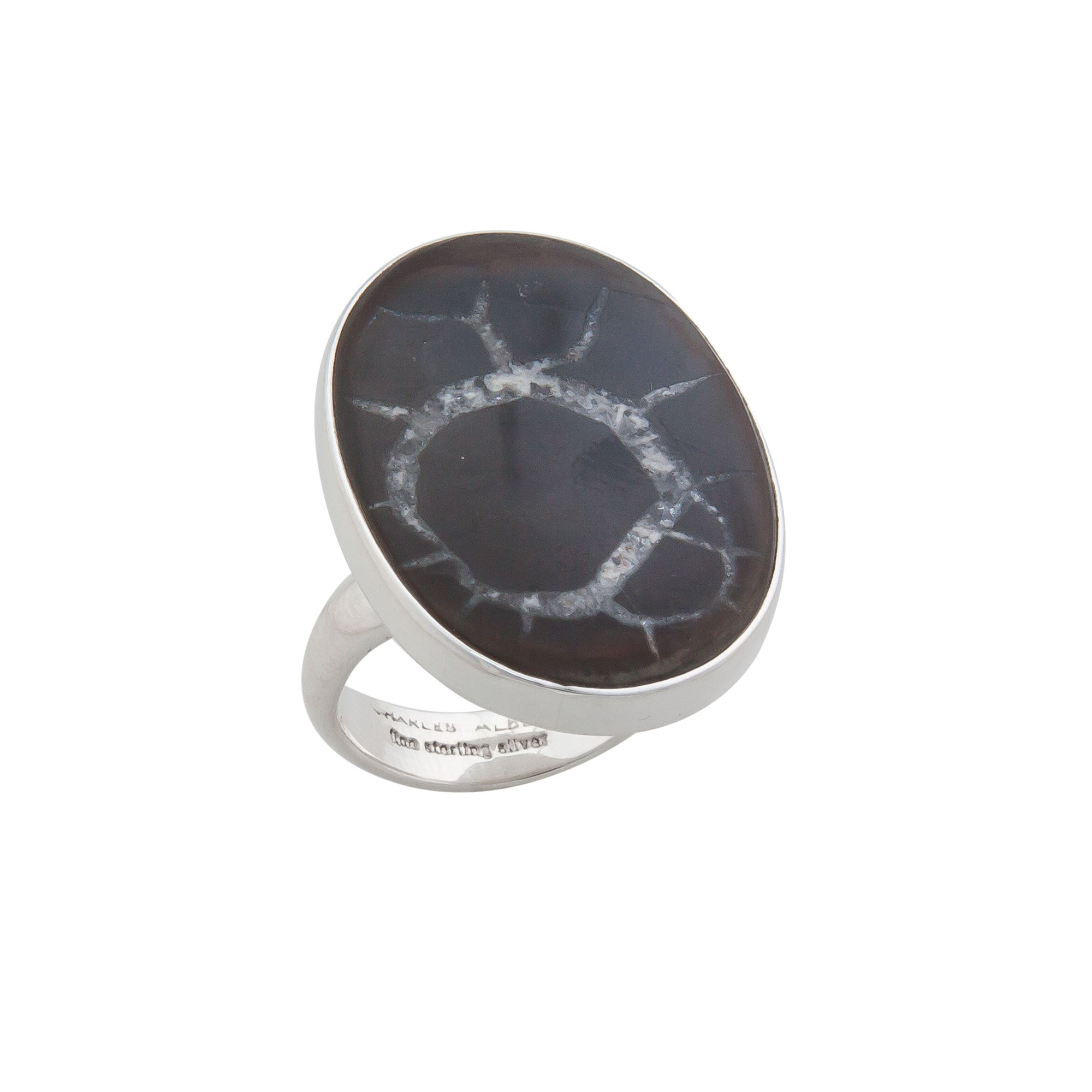 Sterling Silver Septarian Nodule Ring