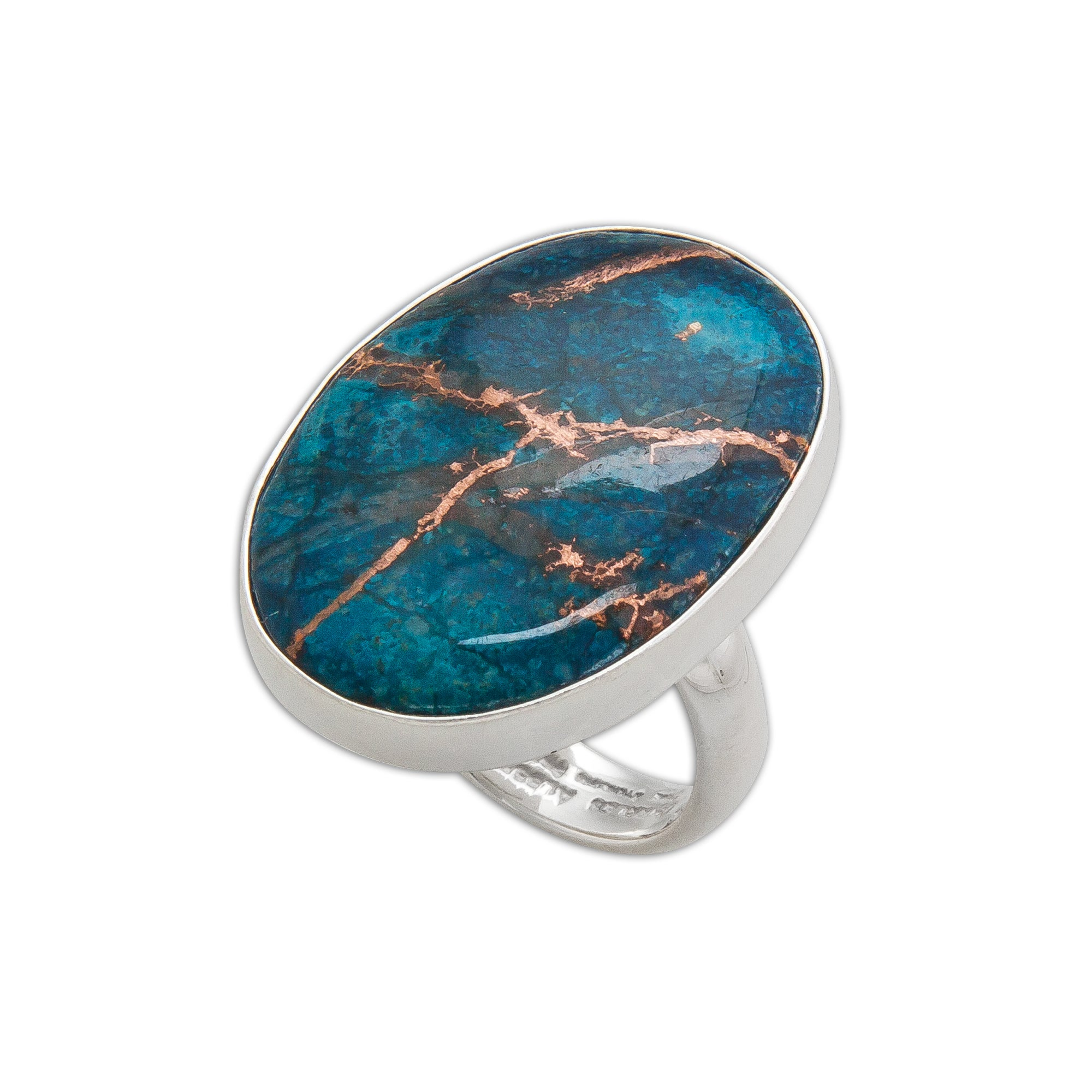 Sterling Silver Alunite with Copper Adjustable Ring | Charles Albert Jewelry