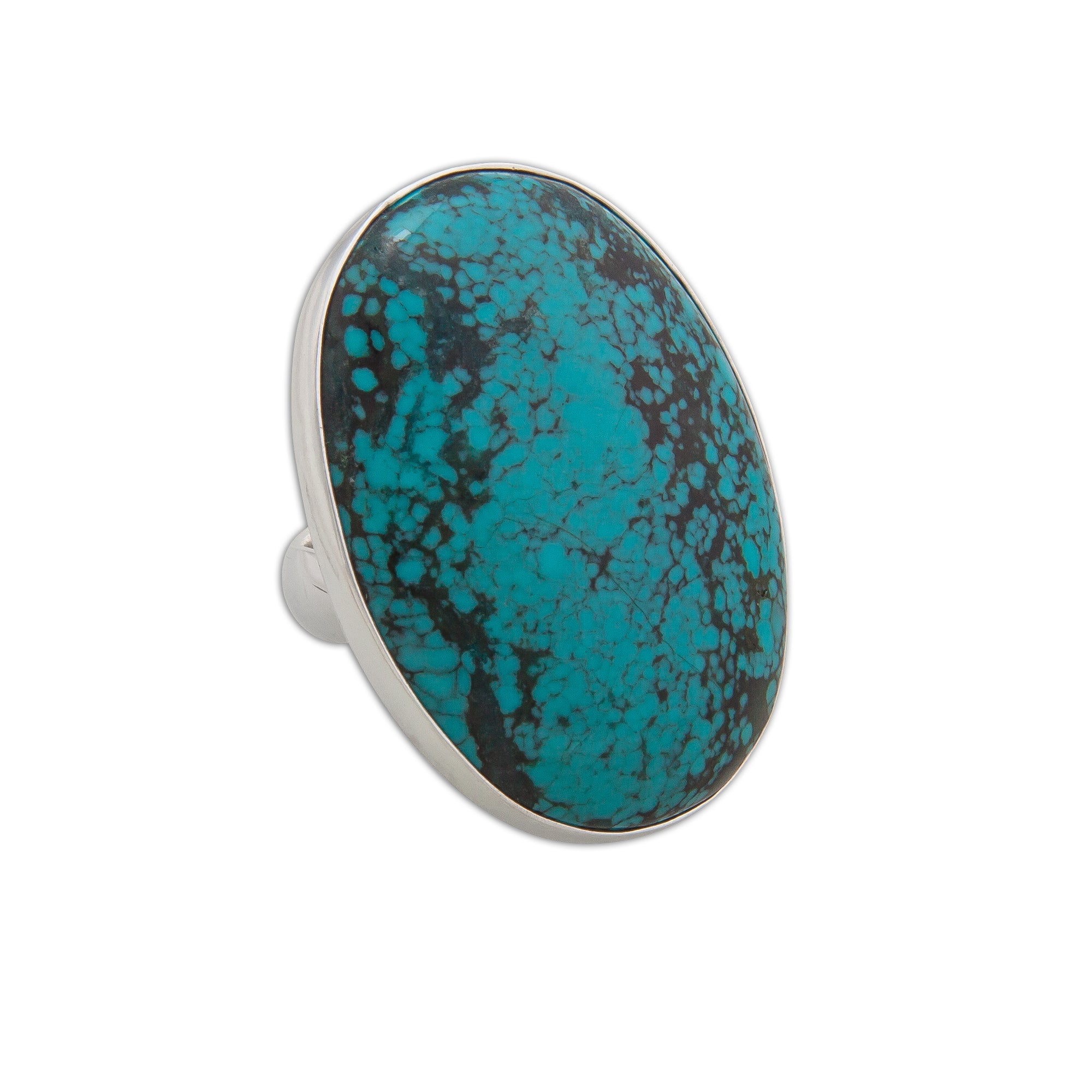 Sterling Silver Oval Turquoise Rings | Charles Albert Inc