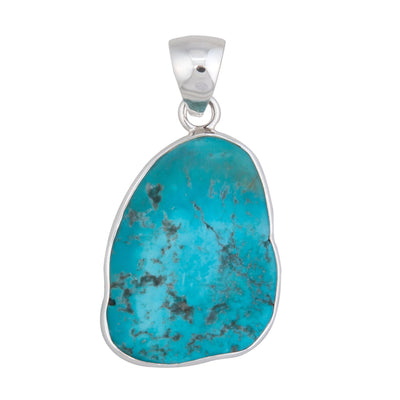 Sterling Silver Sleeping Beauty Turquoise Pendant