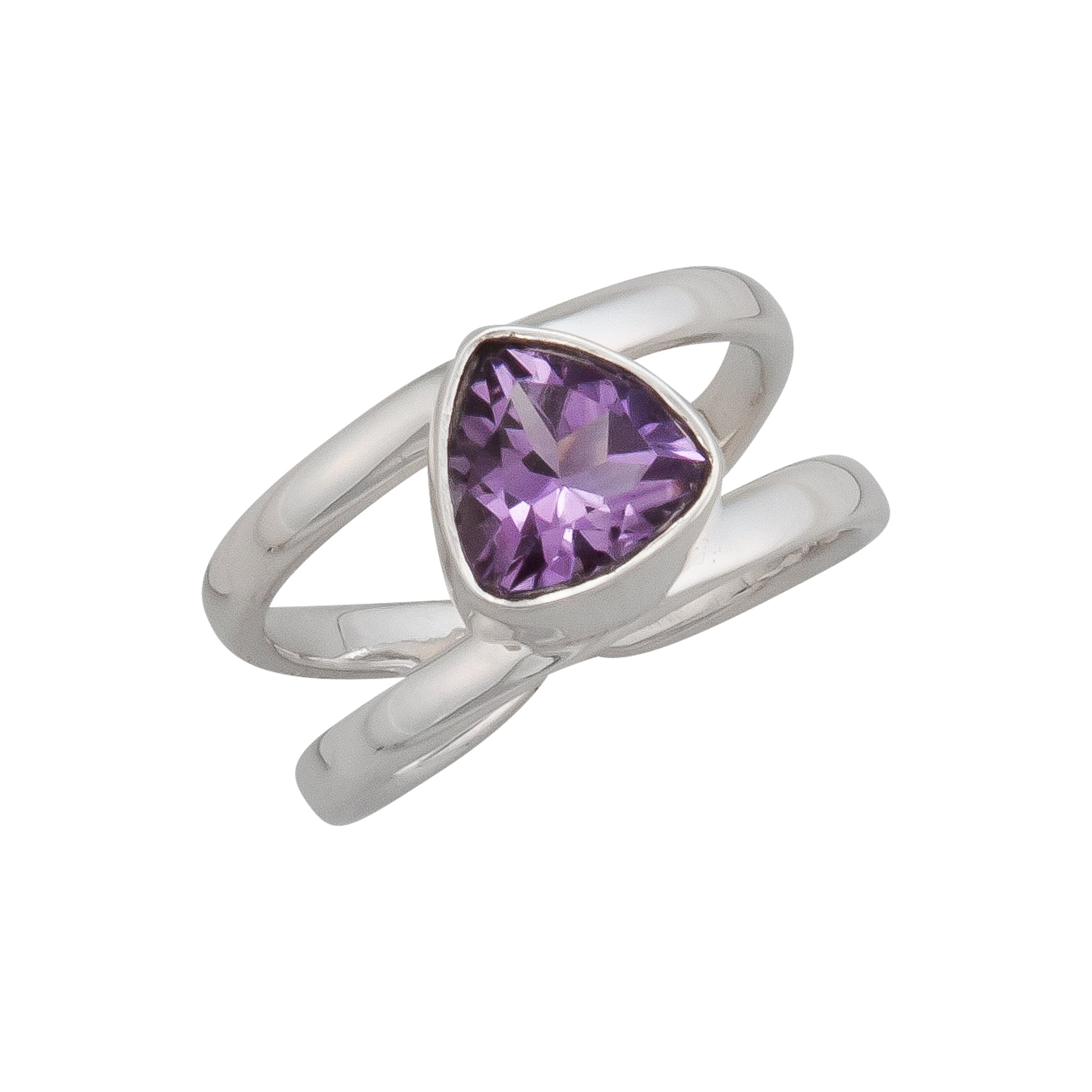 Sterling Silver Amethyst Cuff Ring | Charles Albert Jewelry