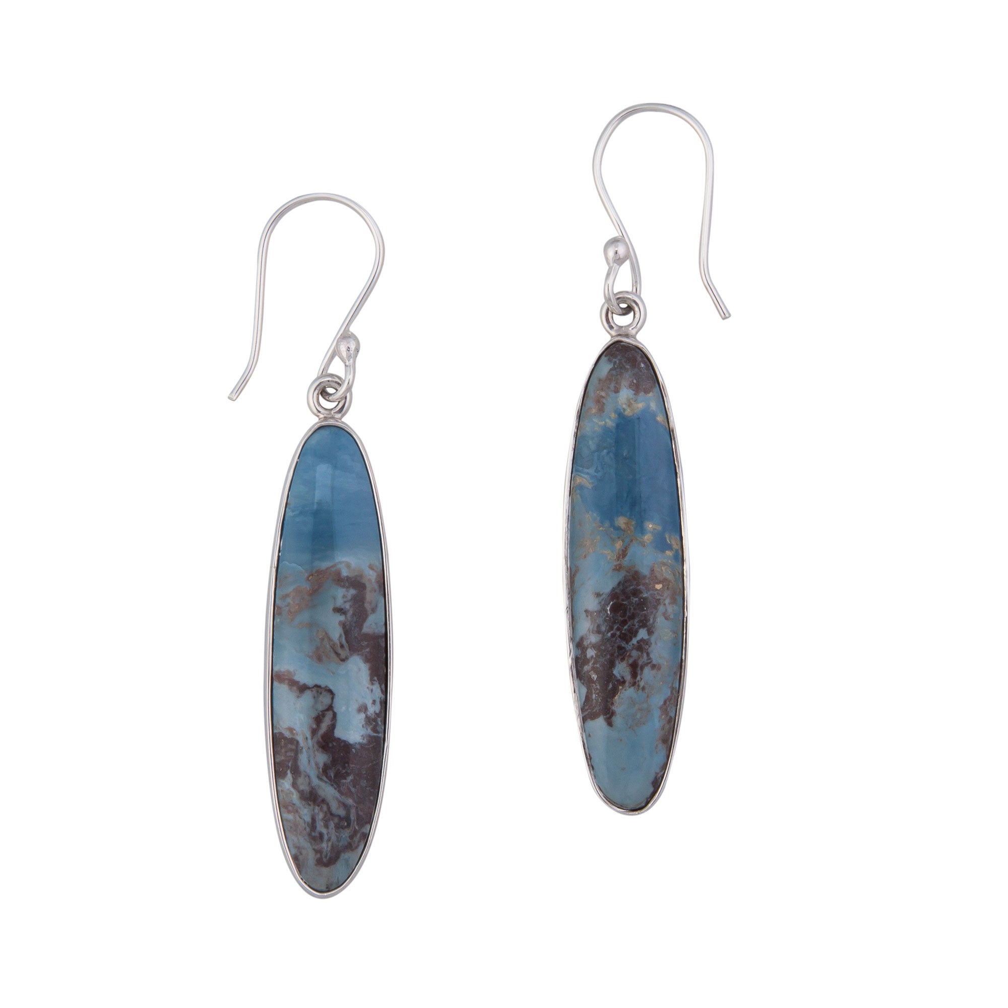 Sterling Silver Aztec Lapis Drop Earrings | Charles Albert Jewelry