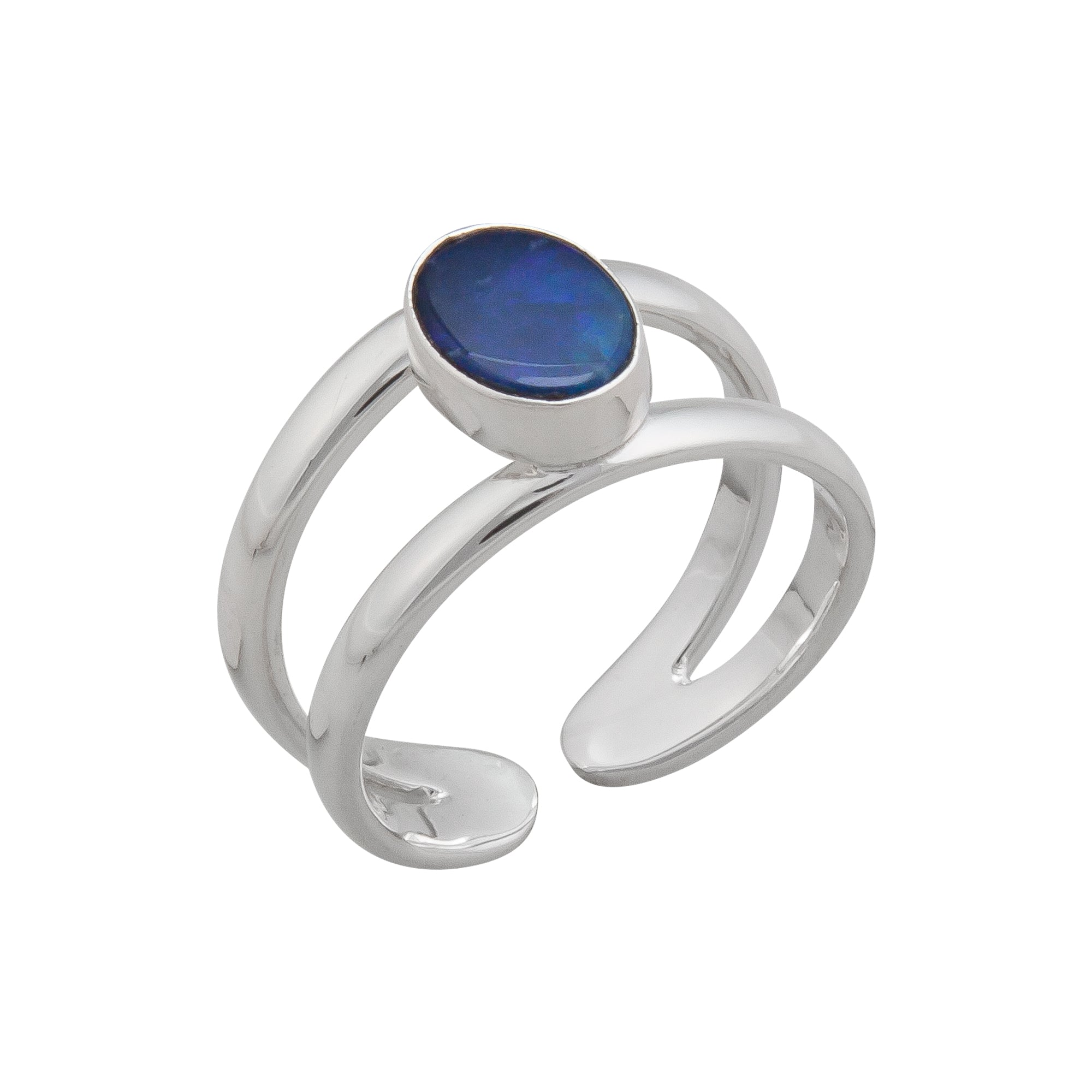 Sterling Silver Opal Cuff Ring | Charles Albert Jewelry