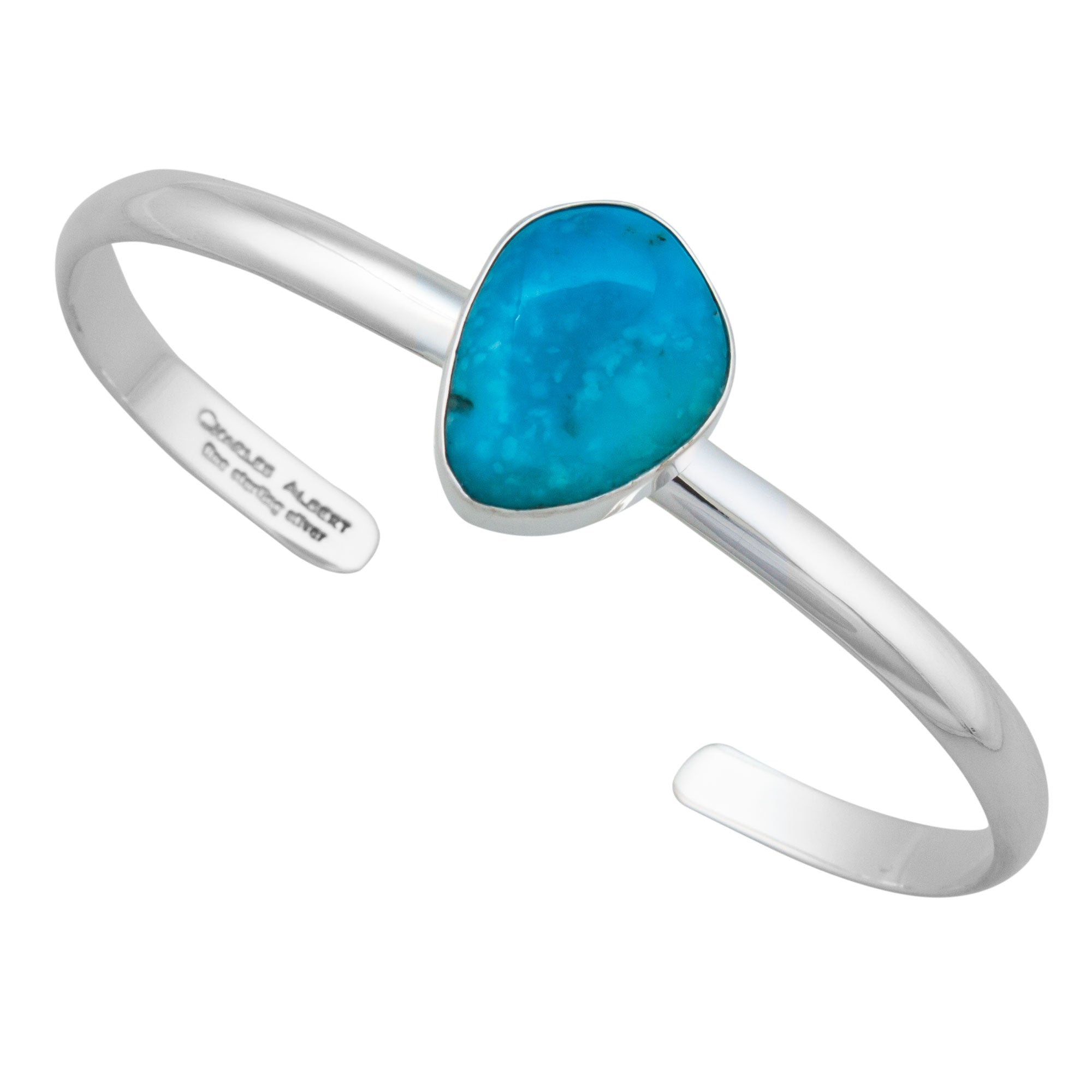Sterling Silver Sleeping Beauty Turquoise Mini Cuff | Charles Albert Jewelry