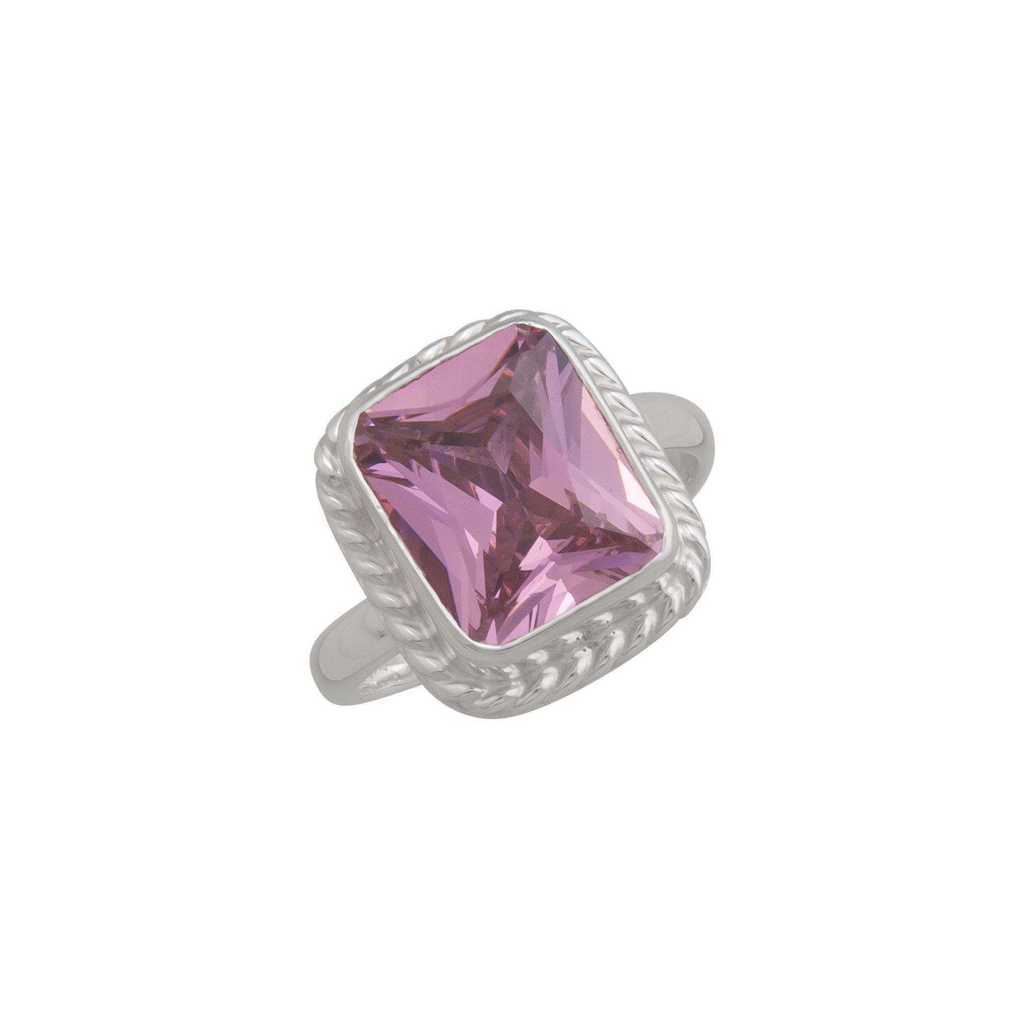 Sterling Silver Pink CZ Adjustable Ring | Charles Albert Jewelry