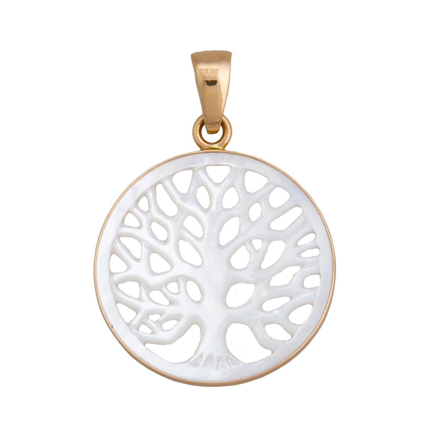 Alchemia 40mm Mother of Pearl Tree of Life Pendant | Charles Albert Jewelry