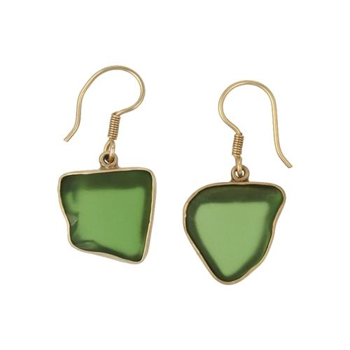 Alchemia Green Recycled Glass Earrings | Charles Albert Jewelry