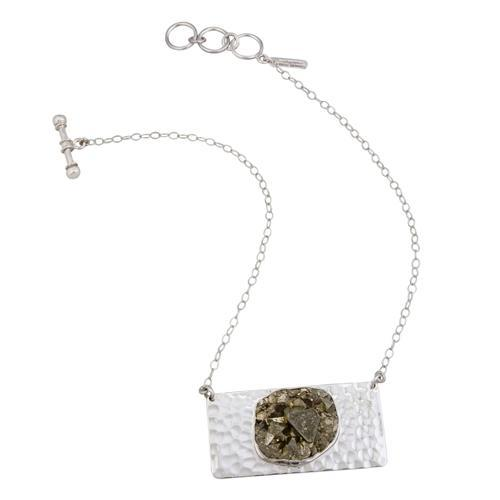 Sterling Silver Pyrite Necklace | Charles Albert Jewelry