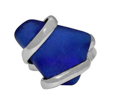 alpaca-recycled-glass-freeform-rings-cobalt-blue - 2 - Charles Albert Inc