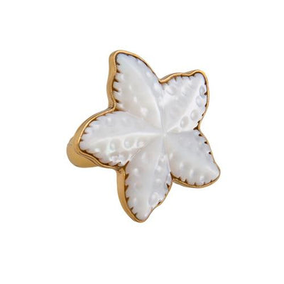 alchemia-mother-of-pearl-starfish-ring - 1 - Charles Albert Inc