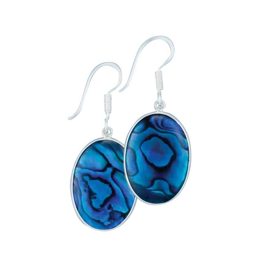 Sterling Silver Blue Abalone Drop Earrings | Charles Albert Jewelry