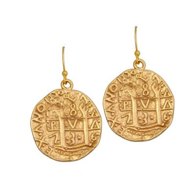 Alchemia Replica Treasure Coin Earrings