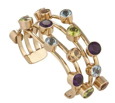 alchemia-multi-gem-4-band-cuff - 2 - Charles Albert Inc
