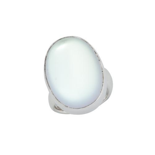 Sterling Silver Oval Luminite Adjustable Ring