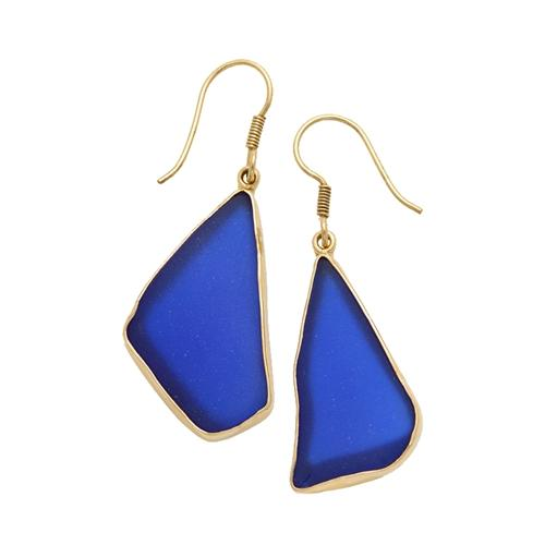 Alchemia Cobalt Blue Recycled Glass Earrings | Charles Albert Jewelry