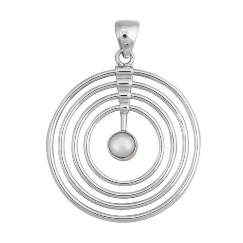 Sterling Silver Pearl Infinity Pendant | Charles Albert Jewelry