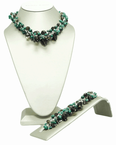 Sterling Silver Green Chachki Set
