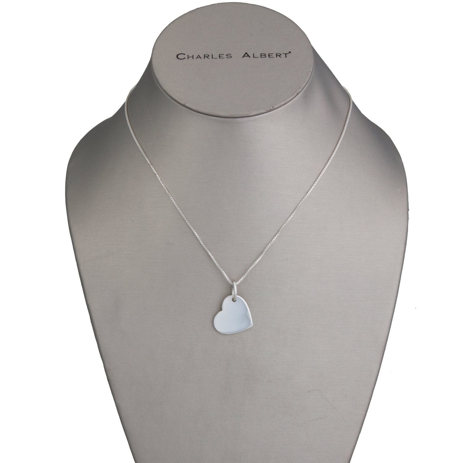 Sterling Silver Solid Heart Pendants | Charles Albert Jewelry
