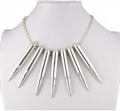 Sterling Silver Bullet Necklace
