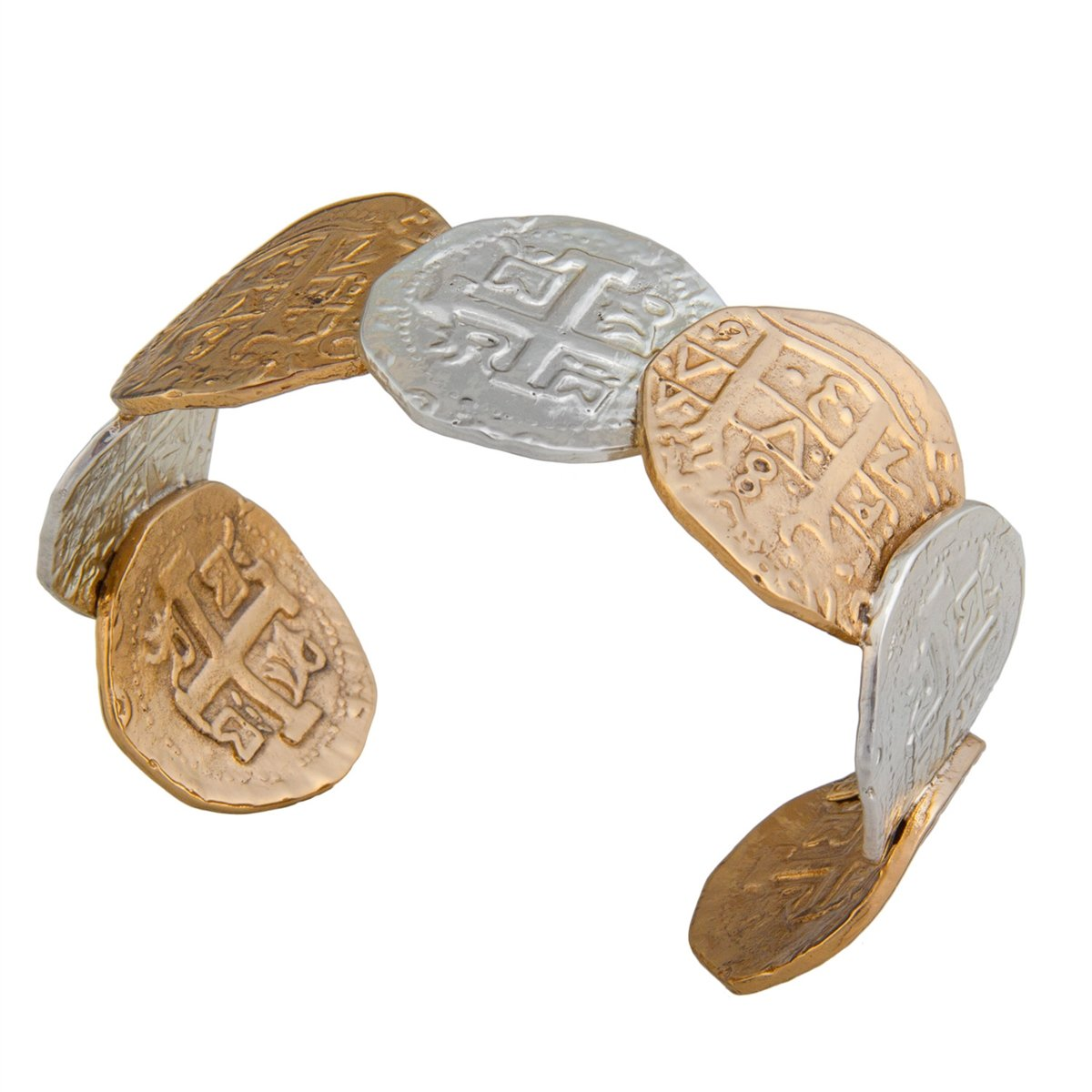 Alchemia and Sterling Silver Replica Treasure Coin Cuff