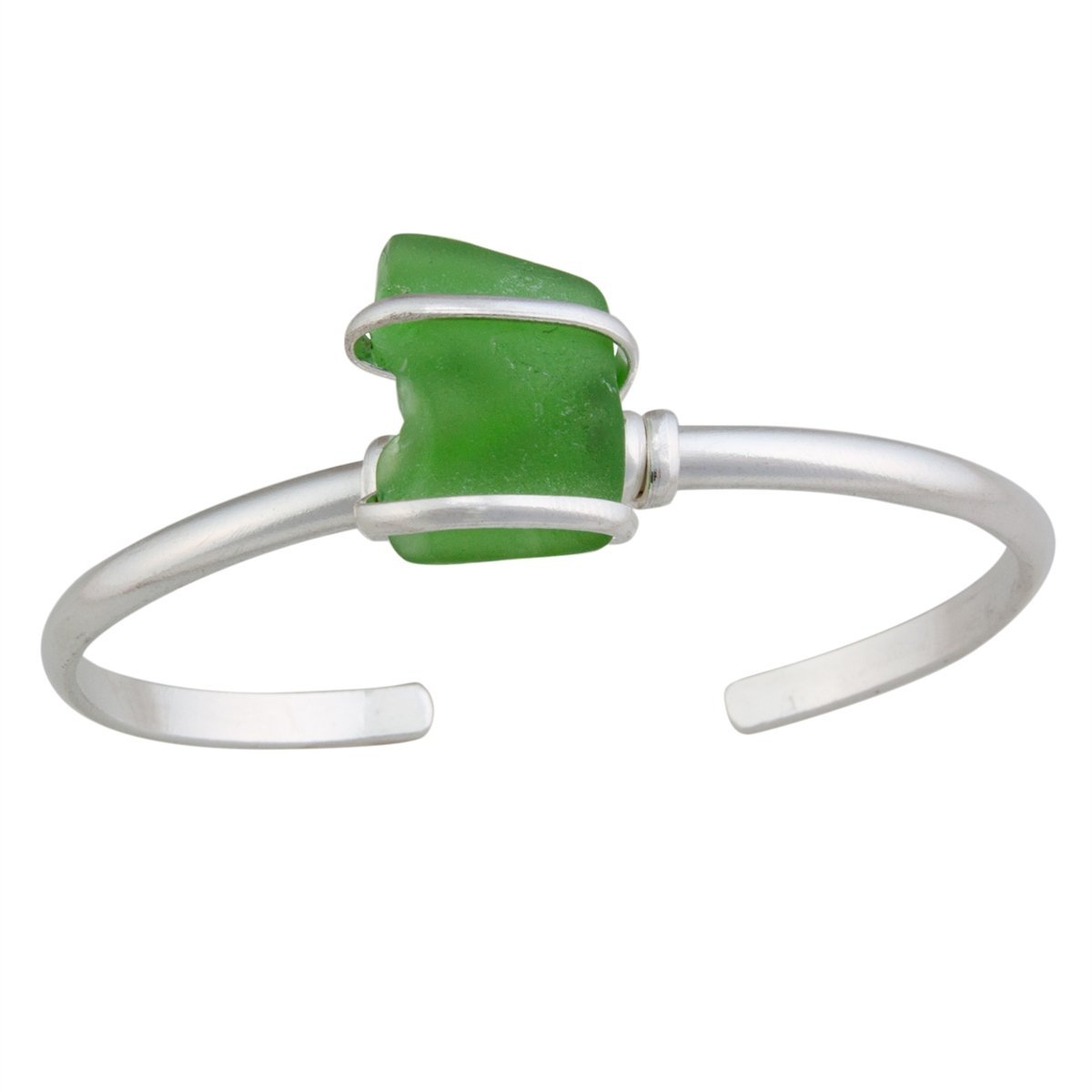 alpaca-recycled-glass-mini-cuff-green - 1 - Charles Albert Inc