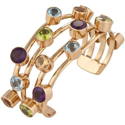 alchemia-multi-gem-4-band-cuff - 1 - Charles Albert Inc
