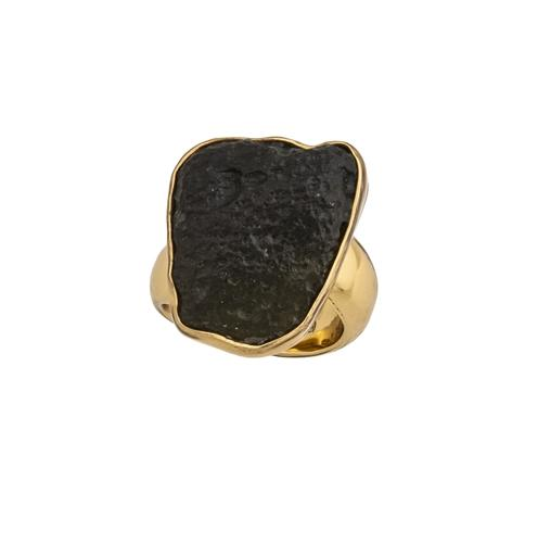 Alchemia Moldavite Adjustable Ring
