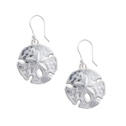 Sterling Silver Sand Dollar Drop Earrings | Charles Albert Jewelry