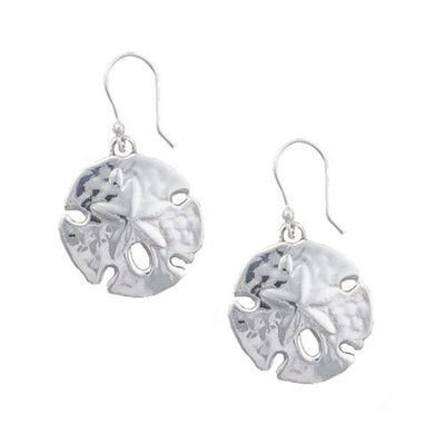 sterling-silver-sand-dollar-earrings - 1 - Charles Albert Inc