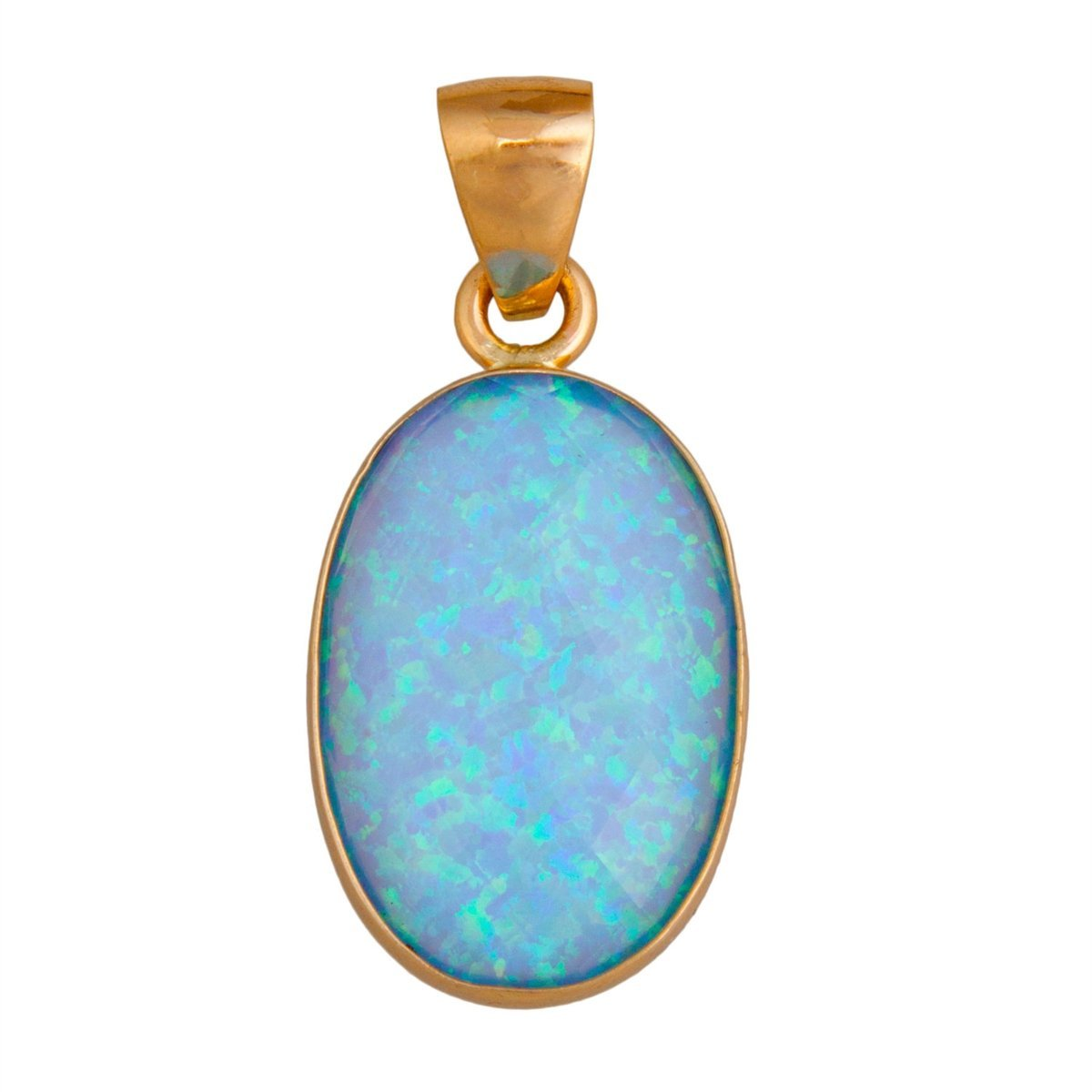 Alchemia Synthetic Opal Pendant - Blue