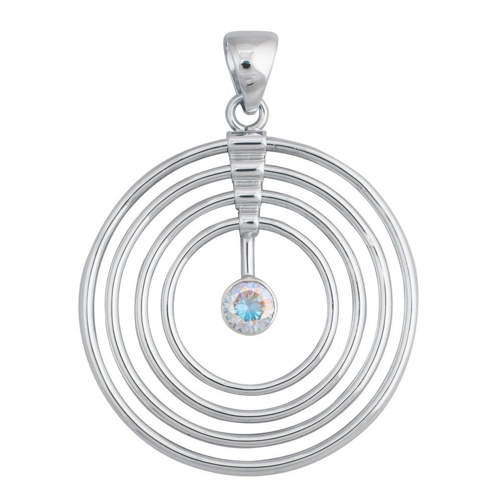 Sterling Silver Infinite Love Mercury Mist CZ Pendant | Charles Albert Jewelry