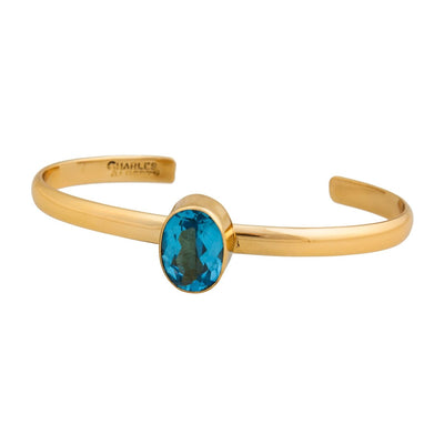 alchemia-blue-topaz-mini-cuff - 2 - Charles Albert Inc