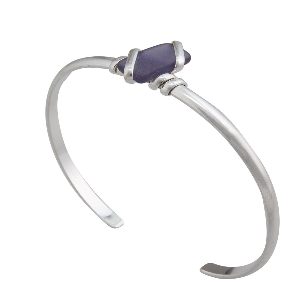 Alpaca Recycled Glass Mini Cuff - Purple | Charles Albert Jewelry
