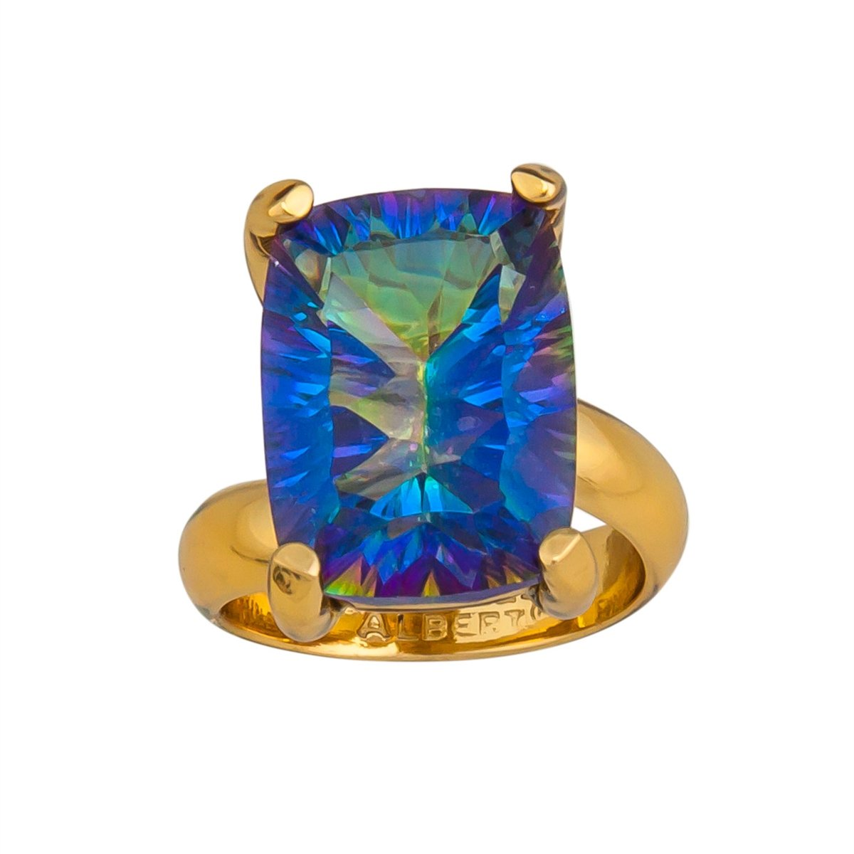 alchemia-mystic-quartz-prong-set-adjustable-ring - 1 - Charles Albert Inc