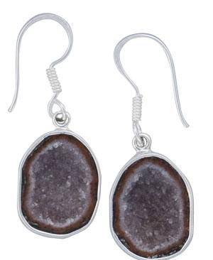 Sterling Silver Tabasco Geode Drop Earrings