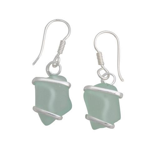 alpaca-recycled-glass-freeform-earrings-seafoam-green - 1 - Charles Albert Inc