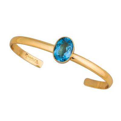 alchemia-blue-topaz-mini-cuff - 1 - Charles Albert Inc
