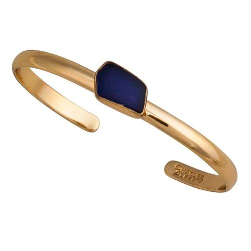 Alchemia Cobalt Blue Recycled Glass Mini Cuff | Charles Albert Jewelry