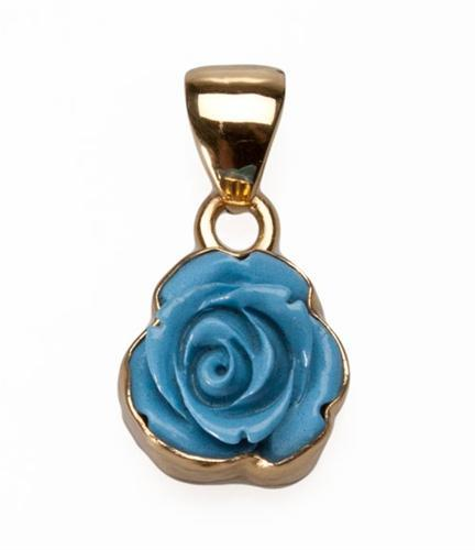 Alchemia Resin Rose Pendant - Blue | Charles Albert Jewelry